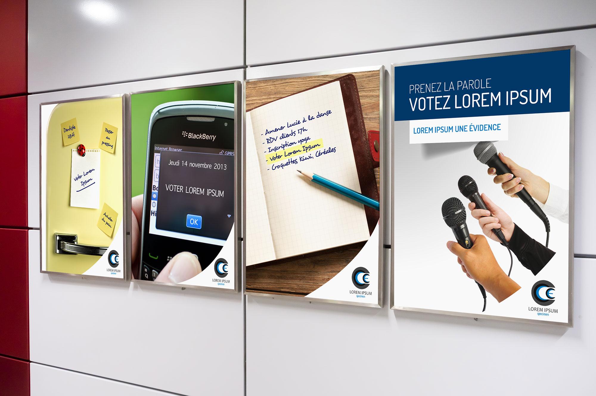 affiches campagne élections professionnelles